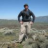 Tom on the summit of Liebre Twins