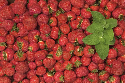 Strawberries and Mint