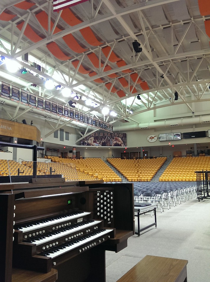 We are always honored to rent organs to Campbell University several times a year for graduations and various functions at The John W Pope Jr Convocation Center
