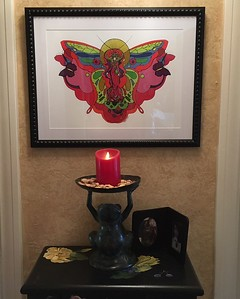 A Madame Butterfly print  at home.