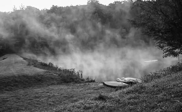 Morning Fog -- Lakes and Farms