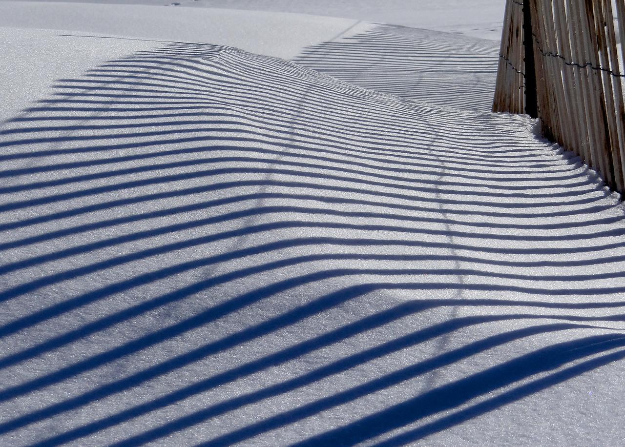 Snow fence shadows
