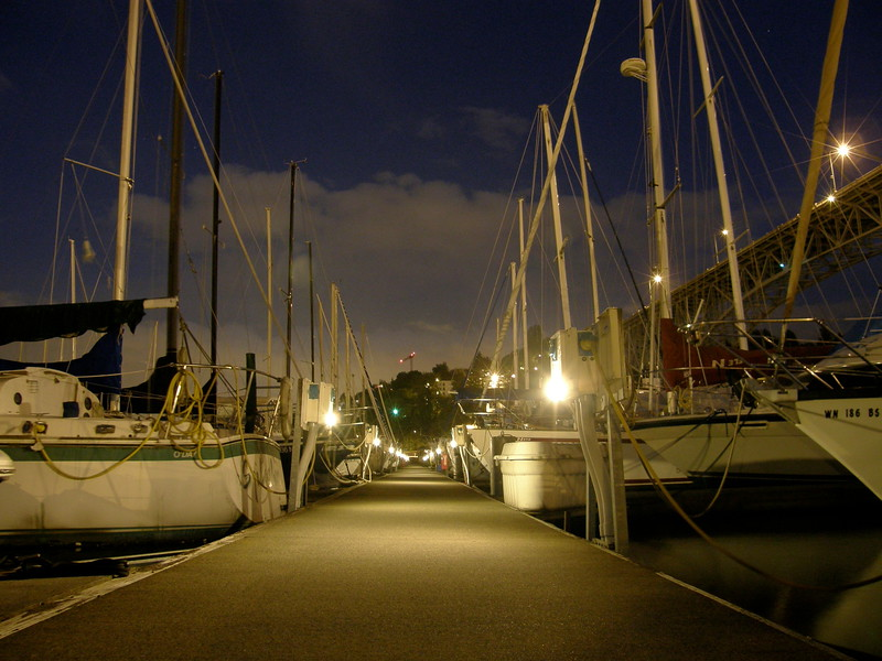 The marina where Tenacity was slipped.