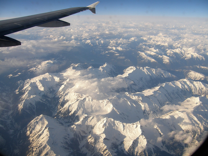 The flight from Seattle to Anchorage is stunning.