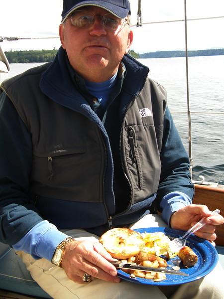 Cap'n Bill and his breakfast