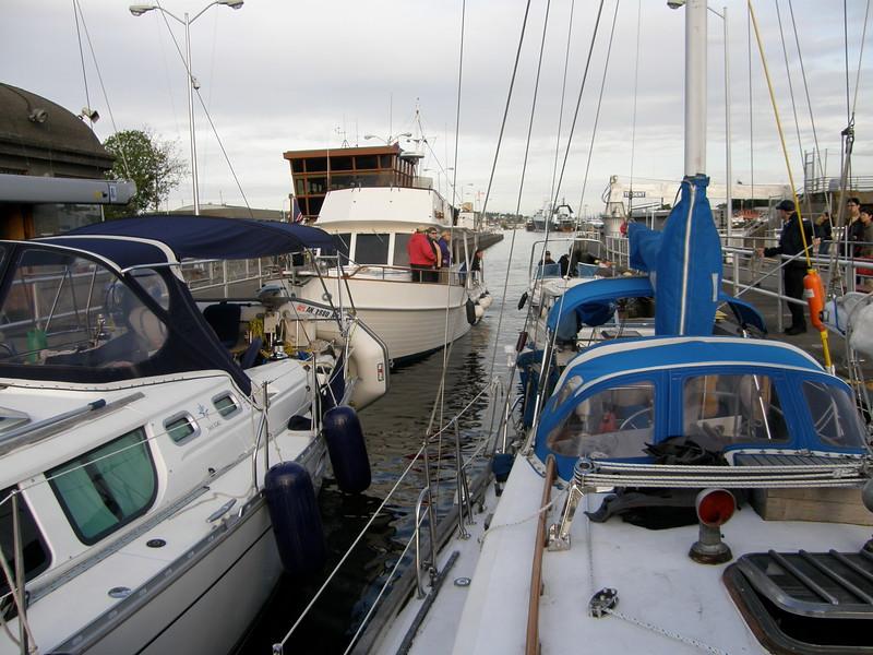Ballard Locks- a tight squeeze