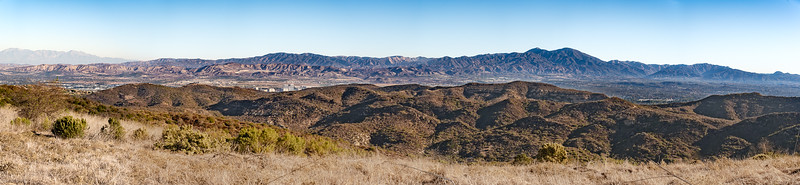 View of the Mountains from Hogback Ridge 12-04-20 Bommer Canyon