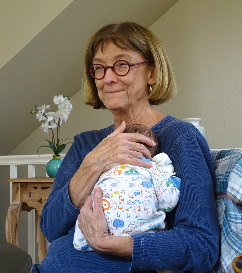 Jane, Ben's paternal grandmother, just a bit happy