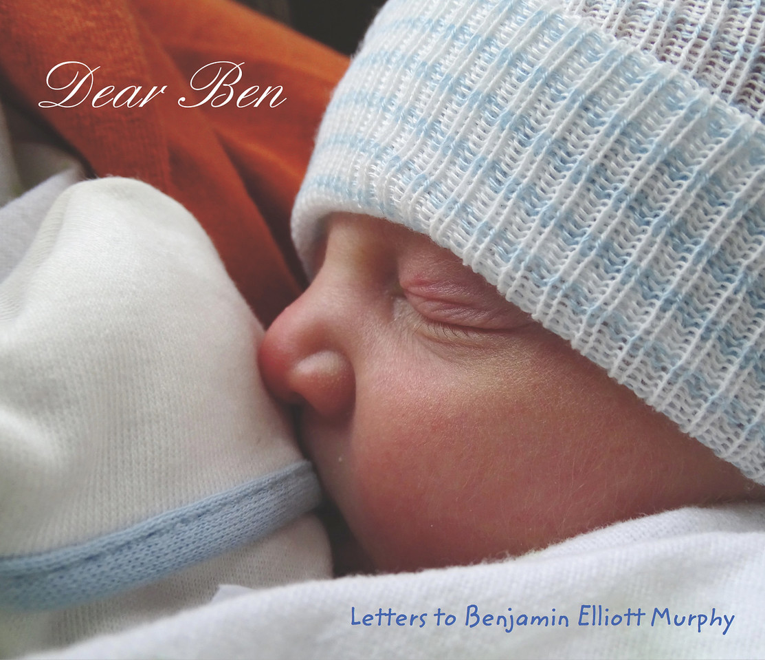 The cover of the 60 page book given to Ben, full of letters to him from friends and family.