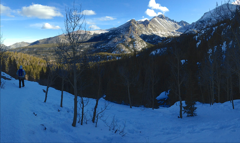 "Vista of the ""back"" side of Longs Peak (flat top), Rocky Mtn Natl Park"