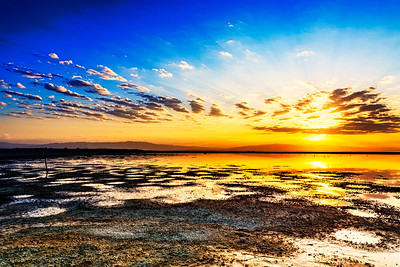 Sunrise over Salton Sea