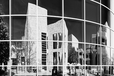 Getty Center - The Architecture Part 2 of 3.     #gettymuseum #gettycenter #la#losangeles #cali #socal #thegetty #architecture #architecturephotography   #reflection #reflections   #photography #fineartphotography   #blackandwhite #monochrome #BnW #bnwphotography