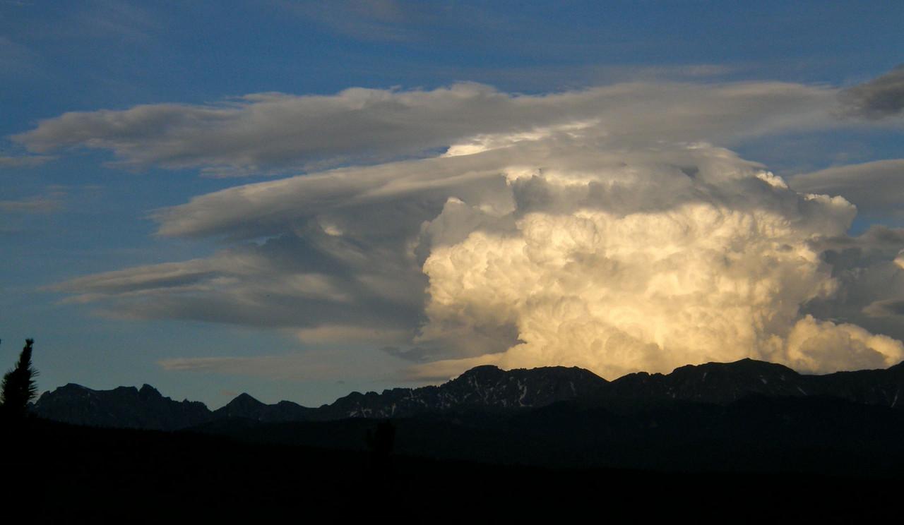 Massive storm clouds