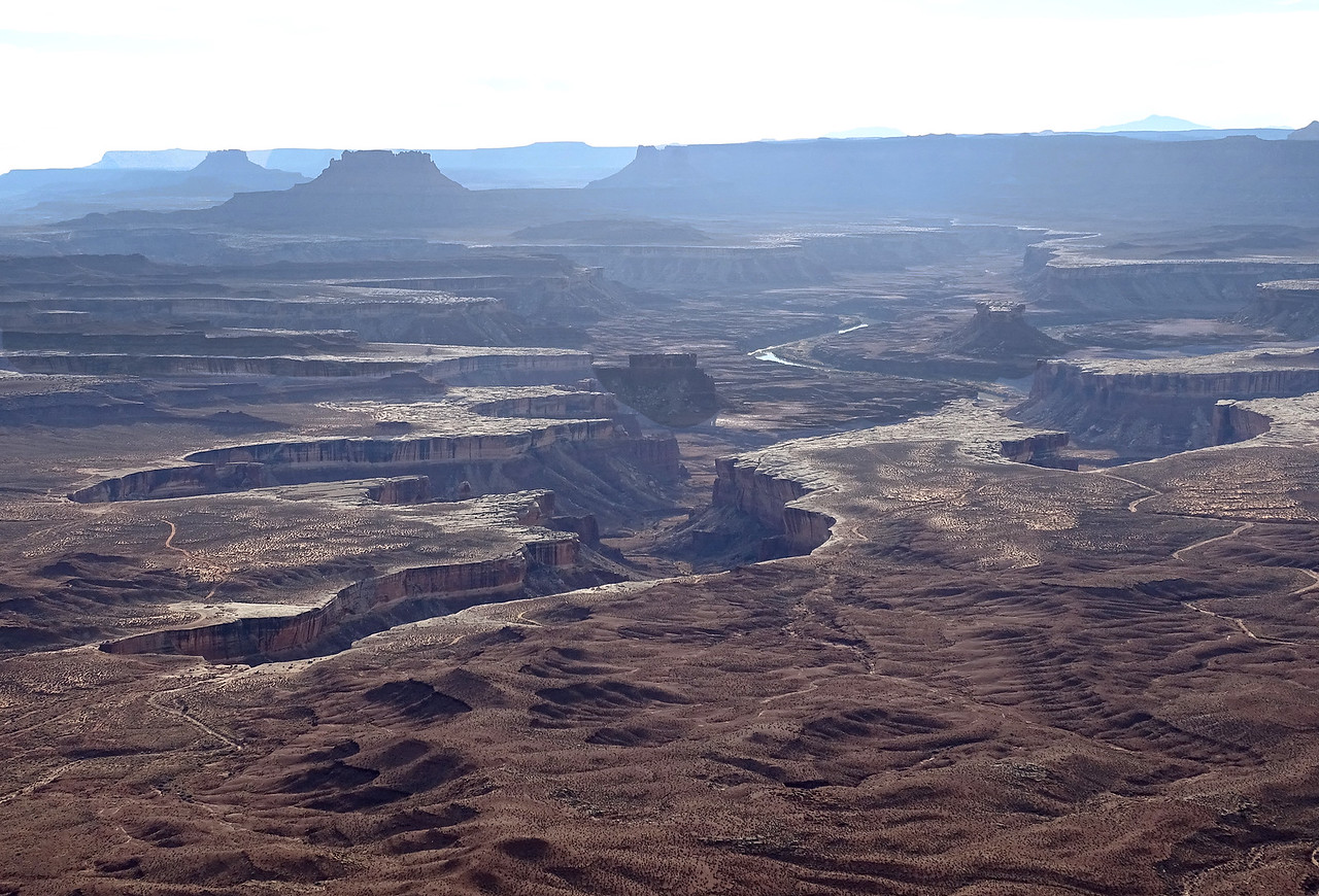 The Green River gives this Canyonlands scene a bit of perspective