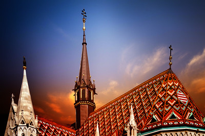 Roof of the Matthias Church, Budapest