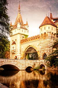 The Entrance to Vajdahunyad Castle in Budapest