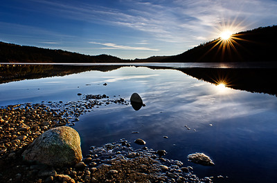 Sunrise at Barker Dam in Nederland Colorado