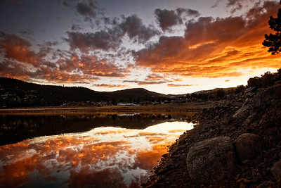 Sunset at Barker's Dam Colorado