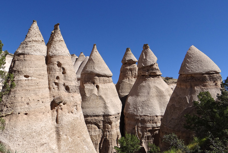 Surreal shapes at Tent Rocks National Monument, NM