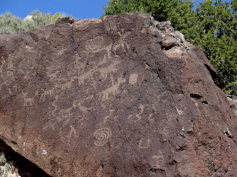 NM petroglyphs  on lava