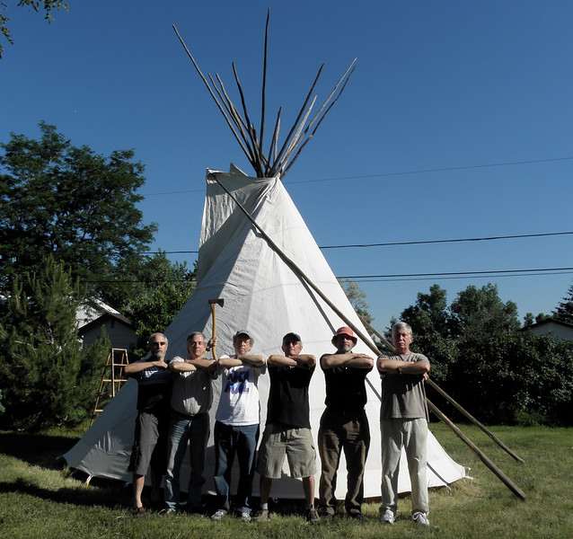 My men's group had the fortunate experience of erecting an honest-to-god tipi on Barry's property.
