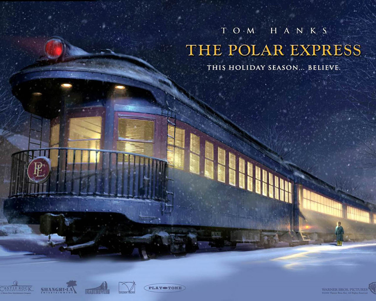See that PE (for Polar Express) on the back of the train?  (SCROLL DOWN FOR MORE)