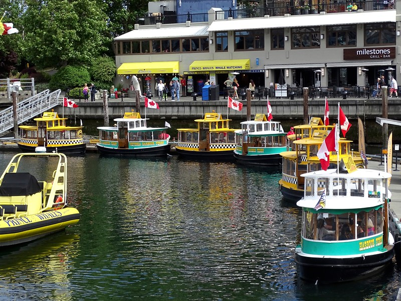 Water taxis in Victoria Harbor