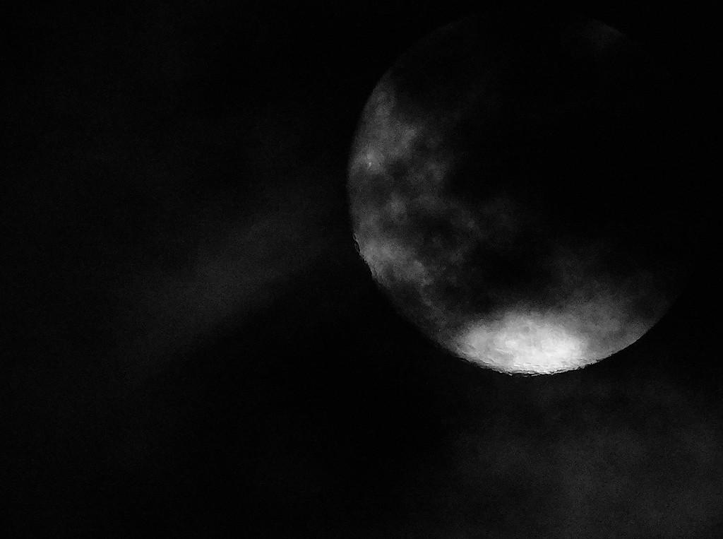 Moody cloudy moony