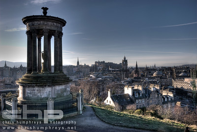 City of Edinburgh from Calton Hill, Scotland