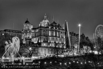 Bank of Scotland HQ at Christmas, Edinburgh, Scotland