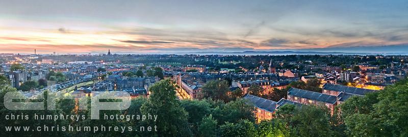 Dusk view of the Stockbridge area of Edinburgh