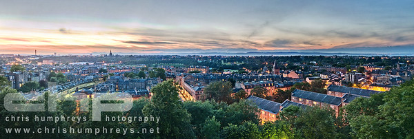 Dusk view of the Stockbridge area of Edinburgh