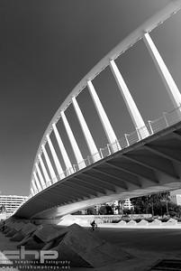 Pasarela de la Exposición bridge - Valencia, Spain, Architect Santiago Calatrava