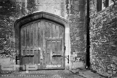 Door in Christ Church College, Oxford, England