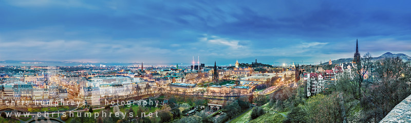 Edinburgh cityscape photograph from Edinburgh Castle
