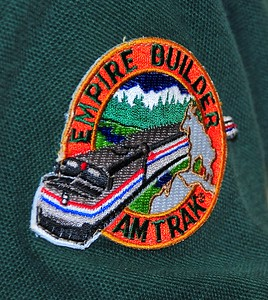This is the Empire Builder logo from a patch on one of the park service guy's shirt. I found a ball cap at the train station in Shelby, Montana with the same patch, so I got one! Yeah, I'm the quintessential tourist.