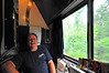 Here I am trying to relax after a year of work before I could take this vacation! Notice the folded up bunk above my head - the AmTrak sleeper room was almost like a Navy ship!