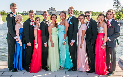 Photographs of my nephew Dan Altmann and his friends on the evening before their senior prom. Taken at Forest Park near the Art Hill fountains.