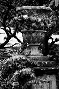 Dawyck Botanic Gardens - stone urn