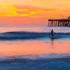 Ghost Surfer at San Clemente Pier