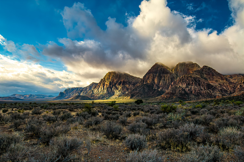 Sun Rays At Red Rock