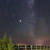 Aloha State Park, MI -- Milky Way Over Main St. Dock