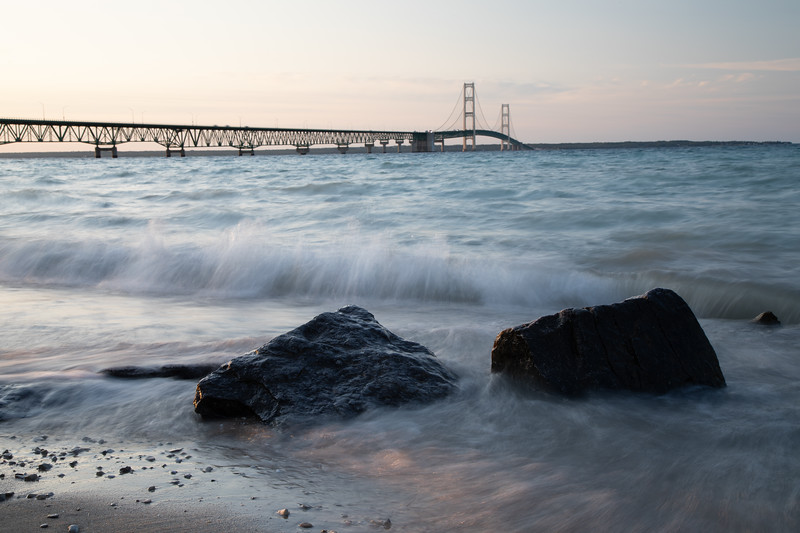 Summer Night at Mackinaw Bridge