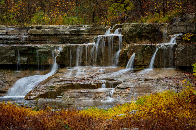 Slow Water Flow Over Lower Taughannock Falls