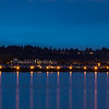 Vancouver Columbia Way, WA at Night