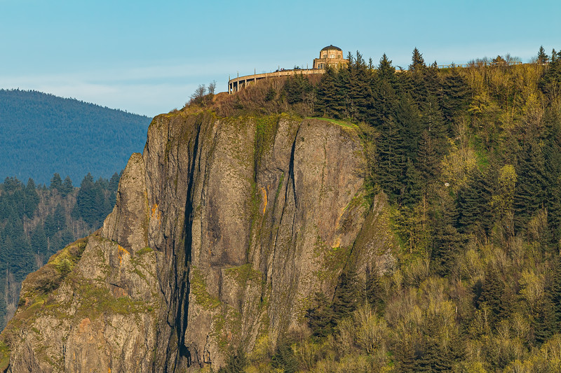 Sunset Upon Vista House at Crown Point