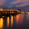 Oregon I-5 Bridge to Vancouver, WA at Night