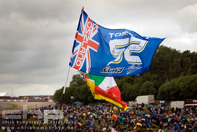 James Toseland flag at Donnington Park, England. 2009 MotoGP Championship
