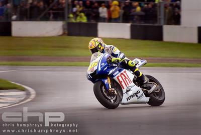 Valentino Rossi at Donnington Park 2, England. 2009 MotoGP Championship