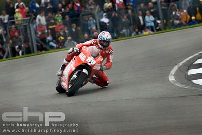 Nicky Hayden at Donnington Park, England. 2009 MotoGP Championship